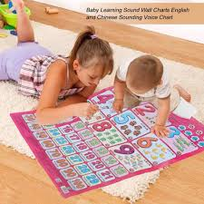 Music Education Wall Charts English Chinese Sound Wall Chart Baby Music Educational Toys Multifunction Learning Machine Electronic Alphabet Fruits Charts