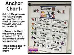 Chart Paper For Kindergarten Super Star Sentence Anchor Chart