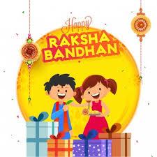 Chart On Raksha Bandhan Happy Raksha Bandhan Celebration Background Vector