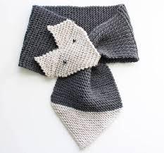 Simple Scarf Knitting Patterns Simple Fox Scarf Knitting Pattern Women Child Sizes Gina Michele