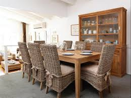 awesome dining room seat cushions on rattan chairs adorned with ribbon together with wooden cabinets with
