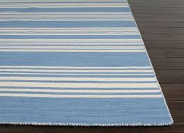 amistad bermuda blue and white striped area rug
