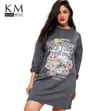 <b>Kissmilk 2018 Plus Size</b> Cartoon Printed Women Sweatshirts Large ...