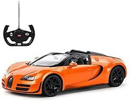 Goods no longer current and so not stocked in bugatti shops are sold direct to the consumer via outlet stores. Amazon Com Radio Remote Control 1 14 Bugatti Veyron 16 4 Grand Sport Vitesse Licensed Rc Model Car Orange Toys Games
