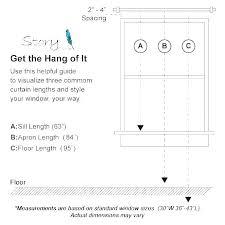 Curtain Rod Sizes Sebago Co