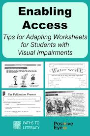 Enabling Access: Tips for Adapting Worksheets for Students with ...