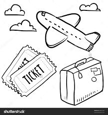 doodle style air travel sketch vector stock vector 93831364 doodle style air travel sketch in vector format set includes plane tickets luggage