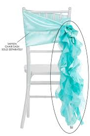 curly willow chair sash turquoise