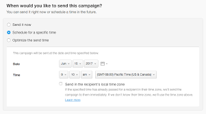 Schedule A Campaign To Send At The Optimal Time Campaign Monitor