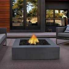 square outdoor propane fireplace