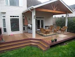 partially covered deck ideas covered deck ideas80 deck