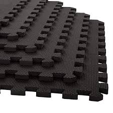 12 pcs 62cm x 62cm black eva soft interlocking indoor outdoor kids puzzle play mats gym