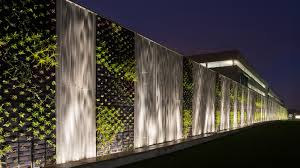 green wall lighting. 220m Long, The Development Includes Largest Green Wall In Europe At Time. Lighting