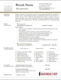 Receptionist Resume Fascinating Receptionist Resume Example 28