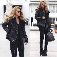 jacket maniére de voir women fashion style trendy leather 36683 black leather jacket leather jacket