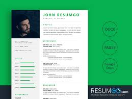 Modern Resume Template Google Docs Nereus Professional And Modern Resume Template Resumgo Com