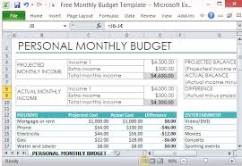 How To Use Excel For A Budget Free Personal Monthly Budget Template For Excel