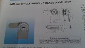 chrome lock cabinet single swinging glass door keyed alike c410 1 110 1 of 2