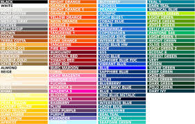 Fdc Color Chart Color Charts Hollywood Signs