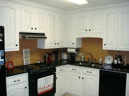 White Cabinets Black Appliances Off White Kitchen Cabinets With