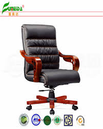 china swivel leather executive office chair with solid wood foot fy1319 china chair office chair