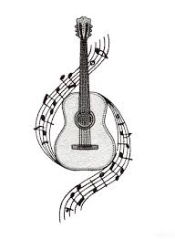 Guitar Embroidery Design Music Pinterest Embroidery Designs