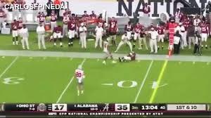 13 yard catch Alabama vs Ohio State ...