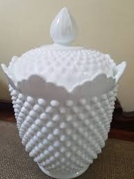 reserved 4 maria vintage milk glass fenton hobnail cookie jar 11 tall hobnail jar w lid 3680 no logo
