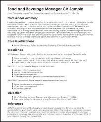 Resume For Restaurant Job Mwb Online Co
