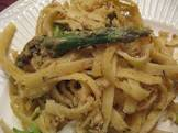baked pasta with asparagus  lemon  and mascarpone