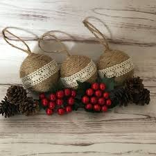Upcycled Jute Ornaments - Easy and Inexpensive Craft! | Christmas decor,  Jute and Reuse