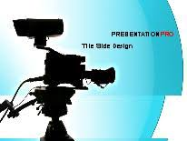 tv powerpoint templates tv camera powerpoint template background in technology computers