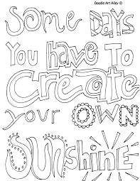 Quote Coloring Pages Free Online Printable