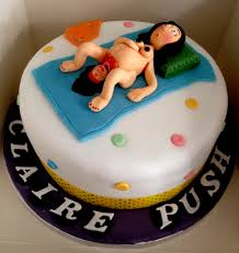 Birth Cakes Vulgar Baby Shower Cake Woman Giving A Little Odd