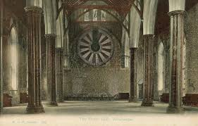 king arthur s round table great hall of winchester castle hampshire postcard early