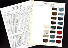 Details About 1970 Ford Mercury Lincoln Interior Color Paint Chart Sample Chip Mustang Truck