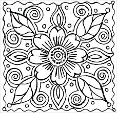 Garden Flowers Coloring Pages Free Flower Pdf Hard Fre