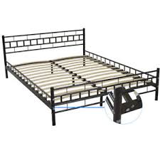 Queen Wood Slats Bed Frame Platform Headboard Footboard Bedeoom Home ...