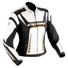 ixon fulgura lady leather jacket white black gold women s clothing jackets ixon fueller