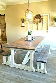 round table dining farmhouse room with leaves making saw fence diy tabletop e
