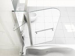 180 pivot 6mm glass over bath screen double shower screen door panel seal