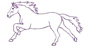horses drawings easy.  Horses How To Draw A Horse Step By  Easily For Kids  Beginners On Horses Drawings Easy
