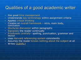 academic writing presentation 3 qualities of a good academic writer