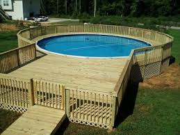 above ground pool with deck surround. Save Wooden Surround Above Ground Pool Deck Design Picture With