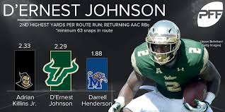 """PFF College on Twitter: """"USF RB D'Ernest Johnson is a real threat out of  the backfield.… """""""