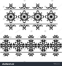 navajo bead designs. Set Of 2 Seamless Borders In American Indian Style. Embroidery Dotted Schemes. Pixel Navajo Bead Designs