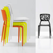 bonaldo viento stackable chair indoor
