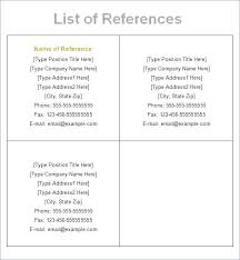 References Format Resume – Administrativelawjudge.info