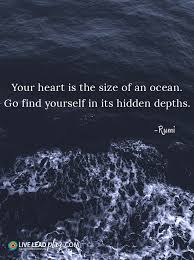 ocean by size your heart is the size of an ocean go find yourself in its hidden