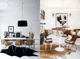 i love a cowhide rug for me they bring the perfect balance of nature and luxury and come in such an amazing array of colours that they work pretty much